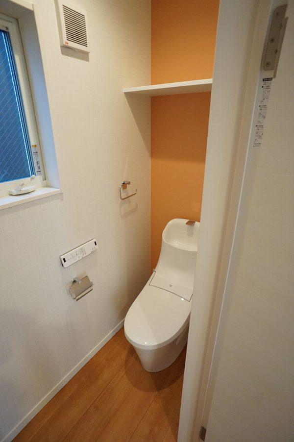 トイレにはモノがおける収納スペースあり