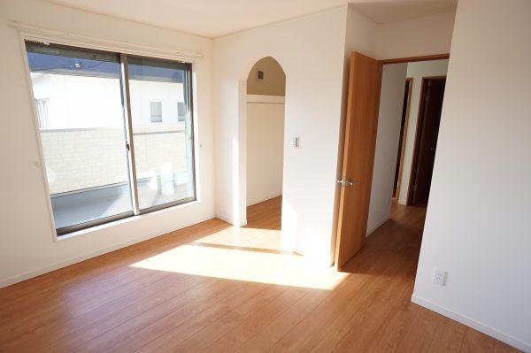 2階の寝室には大容量のウォークインクロゼット