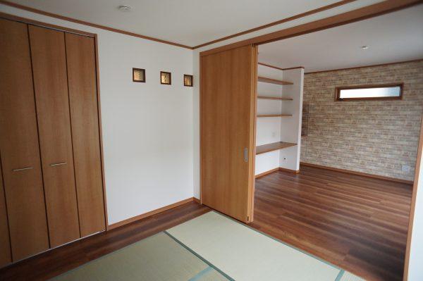 2階には和室と隣接したセカンドリビングです。ちょっと贅沢な空間ですね。